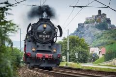 Vorbeifahrt am Schreckenstein, Foto: T. Piller