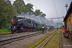 Bahnhof Velké Březno mit Dampflok 423.0145, die unsere Fahrtgäste nach Zubrnice brachte. Foto: J. Ullmann / UnterDampfPictures